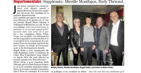 Vignette: Jean Denat soutient Magali Belda et Olivier Pénin